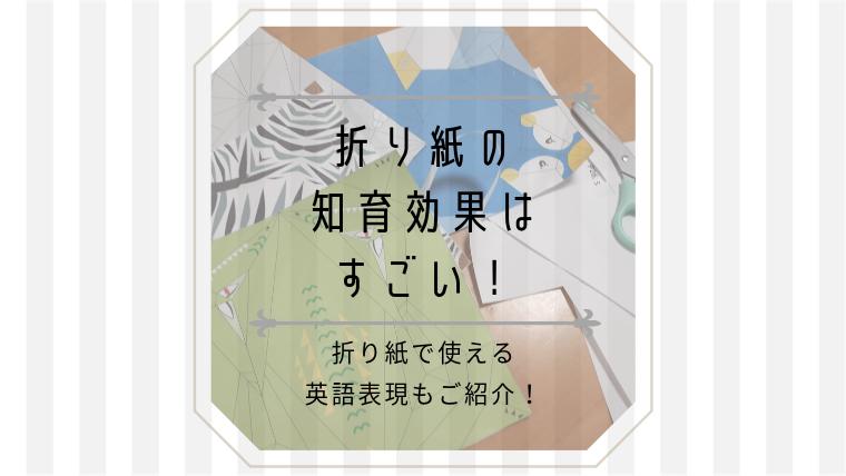 折り紙の知育効果はすごい!折り紙で使える英語表現も使っちゃおう!